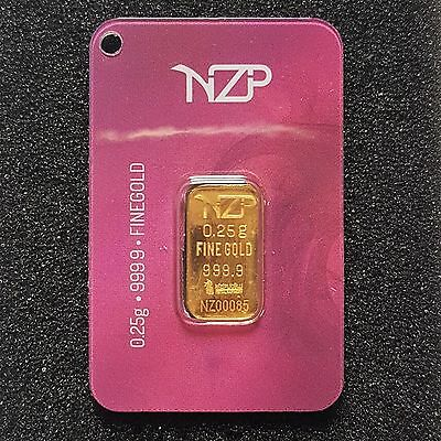 0.25 GRAM GOLD BAR FROM NZP GOLD 999.9 PURE (1/4 Gram)