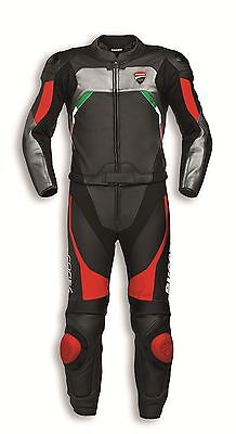 Ducati 9810372 LEATHER SUIT MOTORCYCLE RACING LEATHER SUIT Corse C3 Black Grey