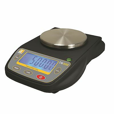 Jennings TB500 Precsion Lab Balance 500g x 0.01g Black Rubberized w/ AC Adapter