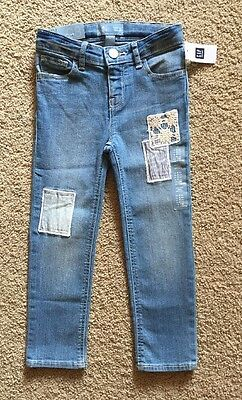 Toddler Girl Size 4 4T Baby Gap Patchwork Skinny Denim Jeans Pants
