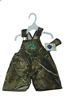 New Toddler Boy Overalls Camo & Shamrock Short Leg