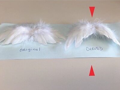 Feather Angel Wings - Curved for dolls and craft projects