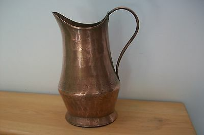 Vintage French Handmade copper jug with sticker on bottom #75