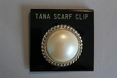 Tana Pearl Scarf Clip - Nwt - New Old Stock