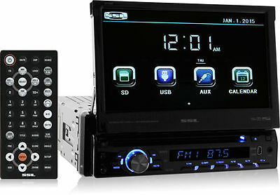 """SoundStorm SD726MB Single-DIN DVD Bluetooth Car Stereo w/ Flip-Out 7"""" Screen"""