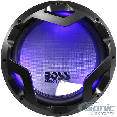 "NEW! BOSS 1600W 12"" Dual 4 Ohm Car Subwoofer with LED ILLUMINATION 