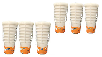 Rubbermaid air freshener citrus scented t-cell refill cartridges 6x1