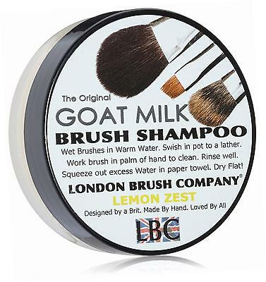 LONDON BRUSH COMPANY Pure Goat Milk Solid Brush Shampoo, Lemon Zest 28 g