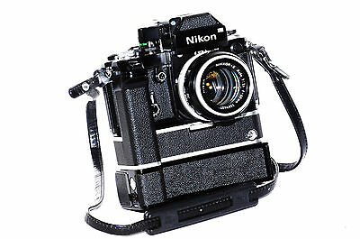 Nikon F2, DP-1, 50mm f1.4, MD-1, MB-1, all collectable, mint minus