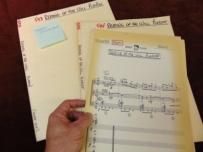 Jerry Lewis Show 1967 TV Music Manuscript Score READING OF THE WILL Lou Brown