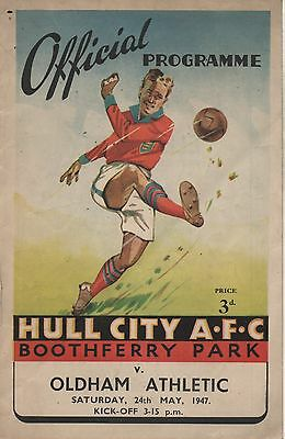 46/47 Hull City v Oldham Athletic