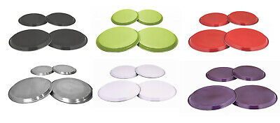 4 Piece Hob Cover Set Kitchen Available In Stainless Steel White Black Red Lime