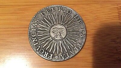 coin 8 Reales 1834, the Republic of Argentina