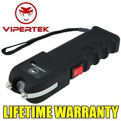 VIPERTEK 610 MV Self Defense Rechargeable Stun Gun w/LED Light + taser case