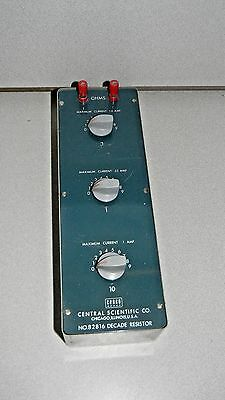 Central Scientific Decade Resistor Box 82816, 100% Tested .1 - 99.9 Ohms