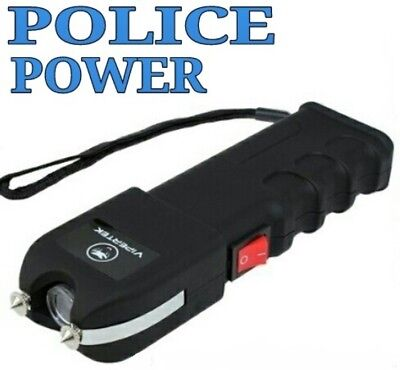 VIPERTEK VTS-989 - 78 BV Rechargeable LED Stun Gun with Holster