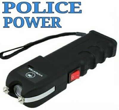 VIPERTEK VTS989 - 180 BV Rechargeable LED Stun Gun with Holster
