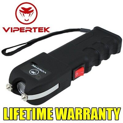 VIPERTEK VTS-989  Rechargeable LED 78 Billion Volt Stun Gun + Case
