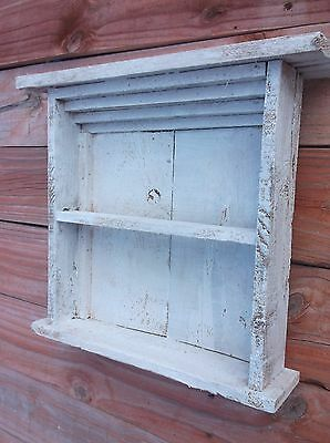 Primitive Cupboard Keeper Cabinet Mantle Shelf Wall vintage look farmhouse wood