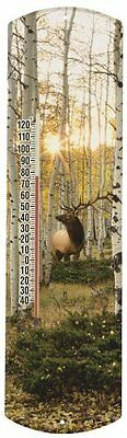Heritage America by MORCO 375EA Elk in Aspen Outdoor or Indoor Thermometer