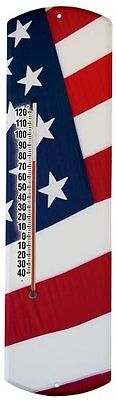 Heritage America by MORCO 375FLAG US Flag Outdoor or Indoor Thermometer