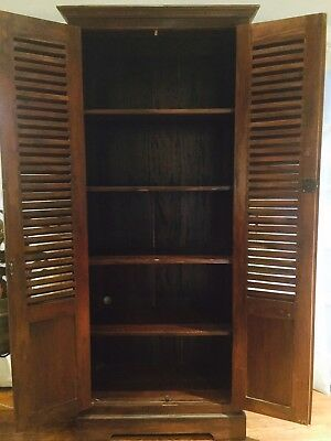 Wood Armoire Set Of Two