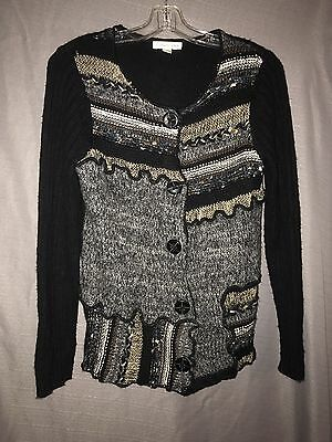 70ffce6a61 JONES NEW YORK button up Chunky cardigan Heavy sweater Size medium ...