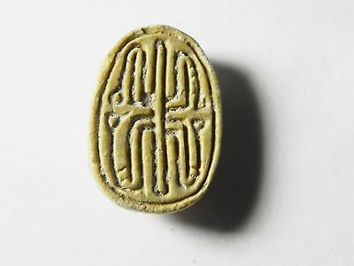 Zurqieh -Af676- Ancient Egypt ,2Nd Intermediate Stone Scarab. 1782 - 1570 B.c