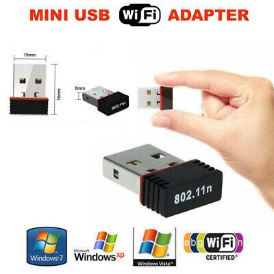 Mini USB 2.0 802.11n 150Mbps Wifi Network Adapter for Windows Linux PC gg