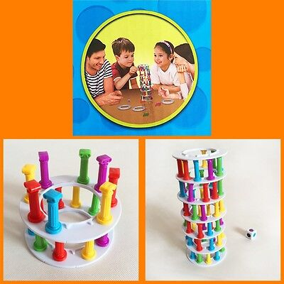 Fun Wobbly Tower Collapse Game Parents Kid Family Board Balance Games Toys NEW
