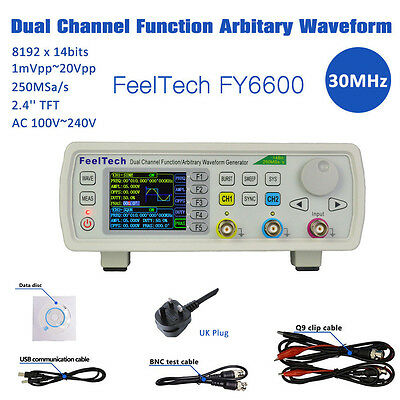 FY6600 15-60M Dual Channels Function Signal Generator Arbitrary Waveform DDS Kit