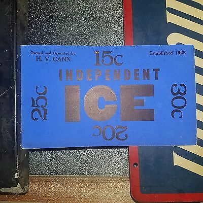 Independent Cann Ice Cobalt Massachusetts Ice-Delivery Window Card Advertising