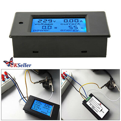 Digital LCD Voltmeter Ammeter Amp Voltage Current Power Volt Meter AC80-260V 20A