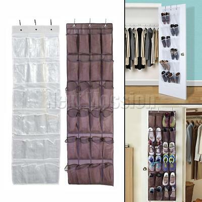 24 Pocket Shoe Rack Stackable Cabinet Storage Organiser Portable  With Cover