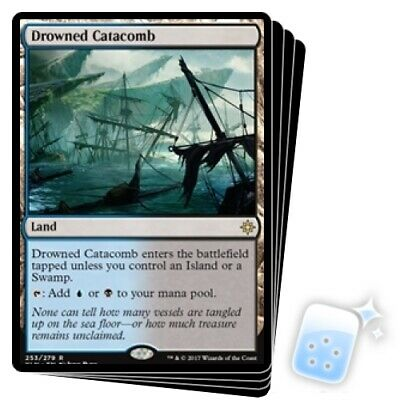 Drowned Catacomb X4 M/NM Magic: The Gathering MTG Ixalan