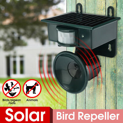 Solar Ultrasonic PIR Sensor Pest Repeller Animal Dog Cat Bird Bat Hang Deterrent