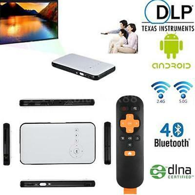 Mini WiFi DLP Projektor Heimkino Beamer HD 1080P BT4.0+TV BOX für iOS Android