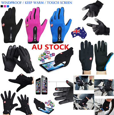 Touch Screen Waterproof Outdoor Driving Ski Sport Gloves Men Women Winter Gloves