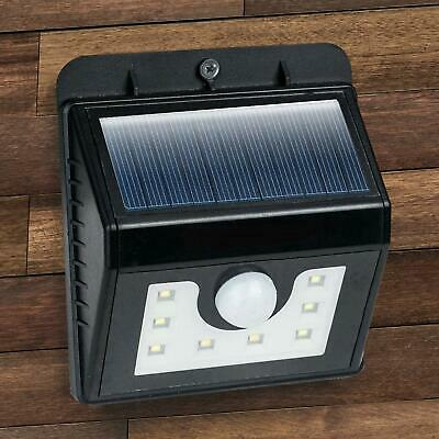 Solar Powered LED Wall Lights Outdoor Garden Fence Patio Door Lantern Lamps