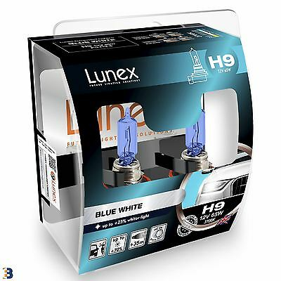 Lunex H9 Halogen Blue White +75% more light Headlight Car Bulbs 3700K Twin