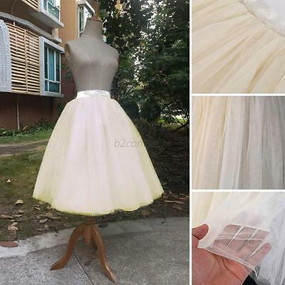Lady Women Princess Ballet Tulle Pleated Skirt Dress Wedding Prom Bouffant Dress