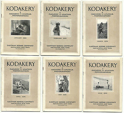 Kodakery; Magazine for Amateur Photographers - 6 issiues from 1920