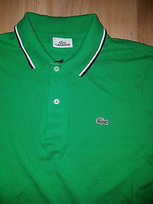 Women's Lacoste Green Cup Sleeve Polo Shirt sz 3 / SMALL         bin a