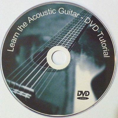 Learn to play Acoustic Guitar - Video DVD Lessons FREE P&P + printed cover