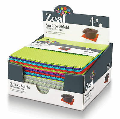 Zeal By CKS Silicone Hot Mat Trivet Surface Shield All Colours + Sizes