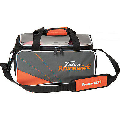 Brunswick Team 2 Ball Tote Bowling Bag Slate Orange