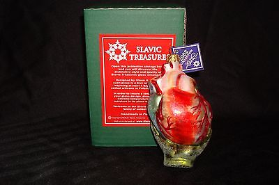 "NIB Slavic Treasures ""Be Still My Beating Heart"" Hand Blown Glass Halloween Orn"