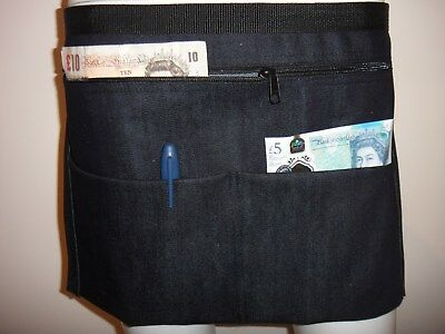 Denim Market Trader Money Belt, Bag, Adjustable Waist band 4 Pocket UK