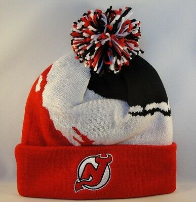 6634a794e62 NEW JERSEY DEVILS NHL Mitchell   Ness Cuffed Knit Pom Hat -  19.99 ...
