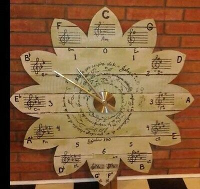 reclaimed pallet wood huge circle of fifths wall clock